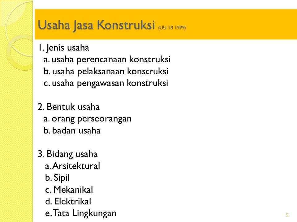 Usaha Jasa Konstruksi (UU 18 1999)