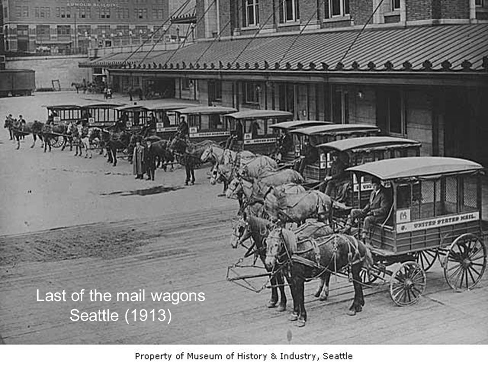 Last of the mail wagons Seattle (1913)