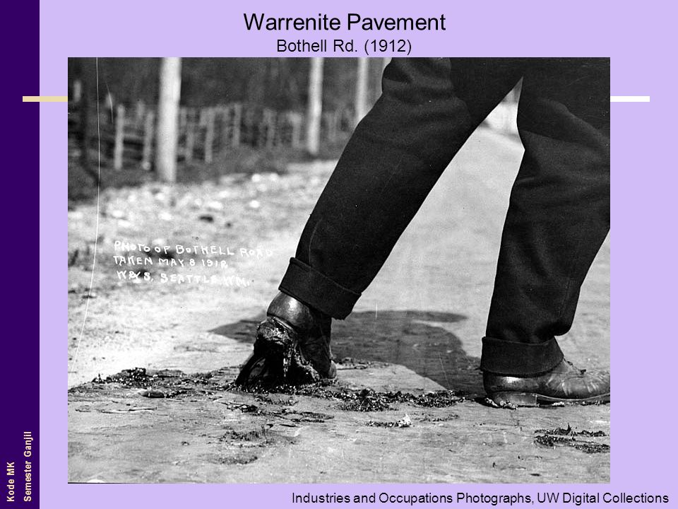 Warrenite Pavement Bothell Rd. (1912)