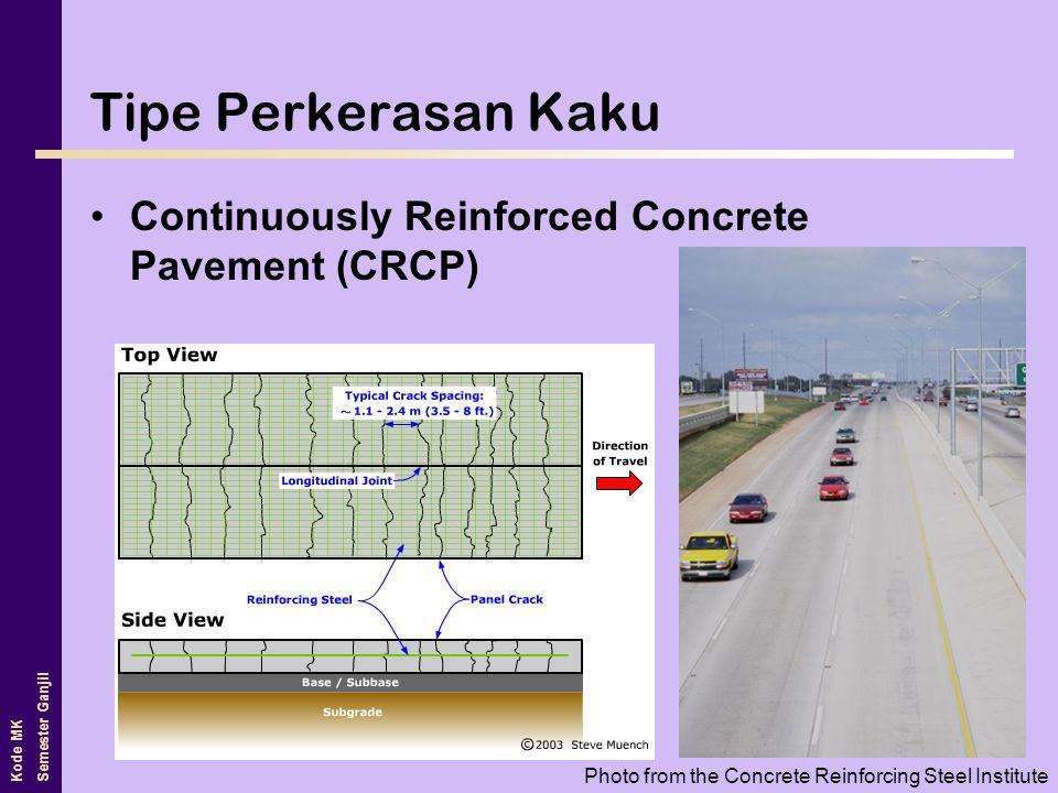 Tipe Perkerasan Kaku Continuously Reinforced Concrete Pavement (CRCP)