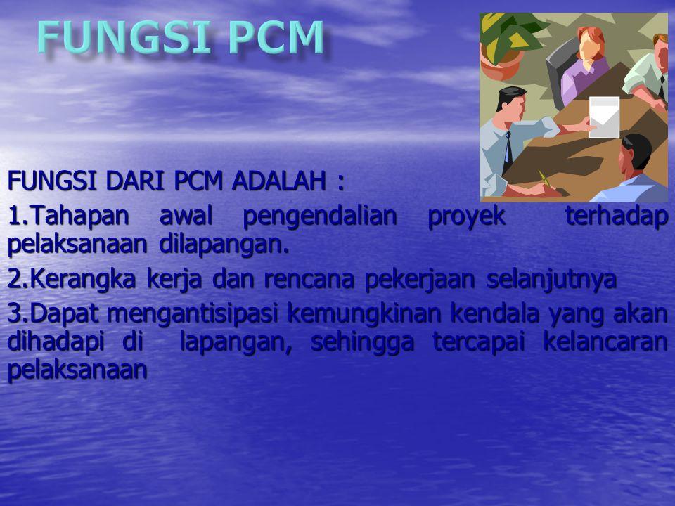 FUNGSI PCM FUNGSI DARI PCM ADALAH :