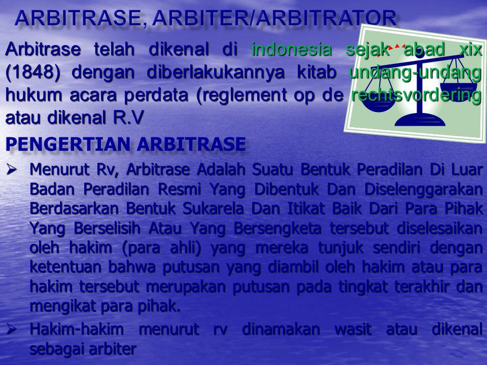 Arbitrase, arbiter/arbitrator