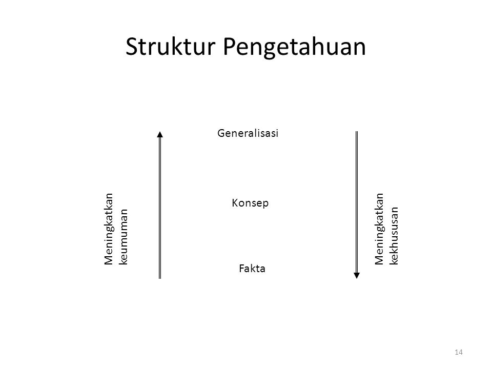Struktur Pengetahuan Generalisasi Meningkatkan keumuman