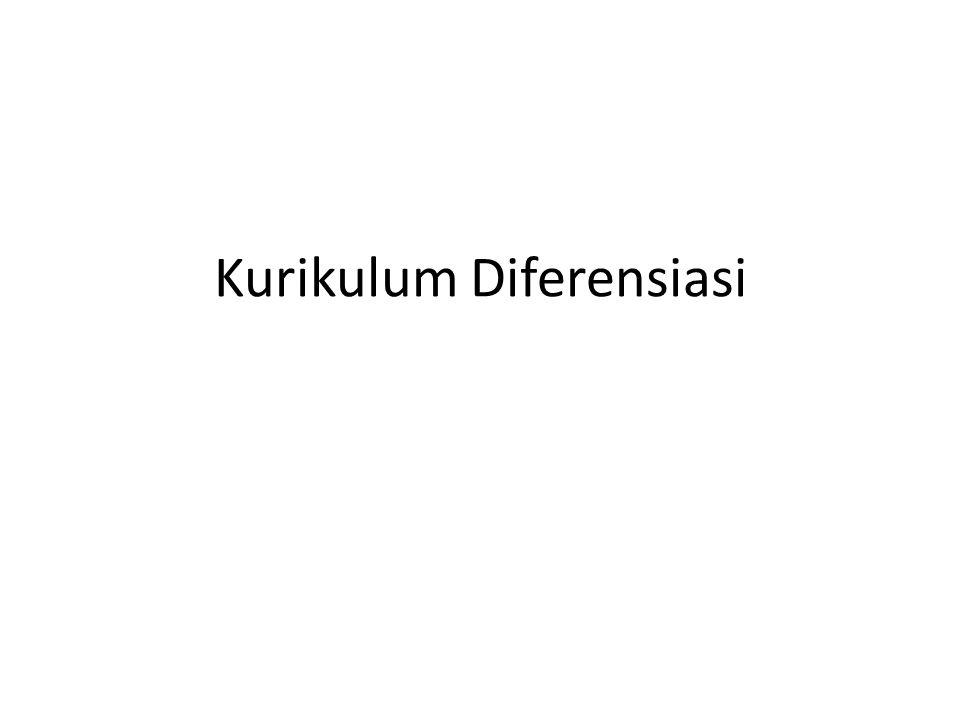 Kurikulum Diferensiasi