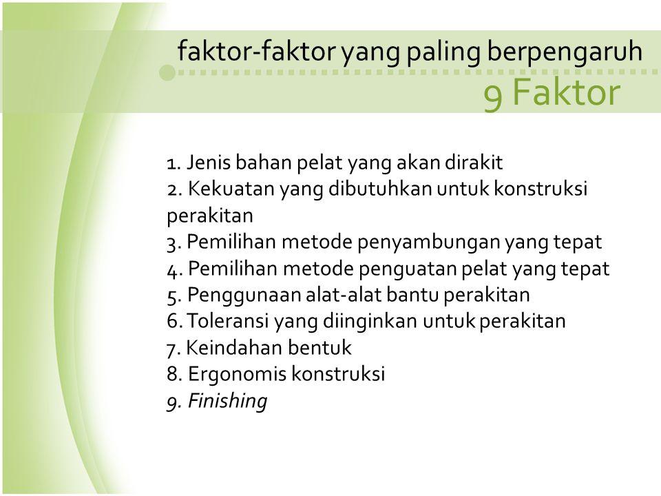 9 Faktor faktor-faktor yang paling berpengaruh