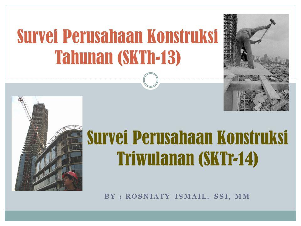 Survei Perusahaan Konstruksi Tahunan (SKTh-13)