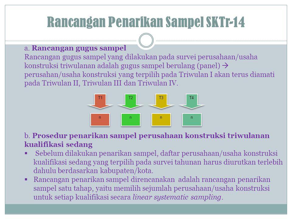 Rancangan Penarikan Sampel SKTr-14