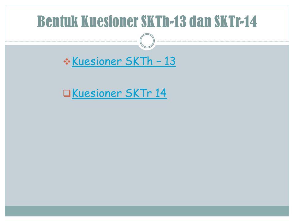Bentuk Kuesioner SKTh-13 dan SKTr-14