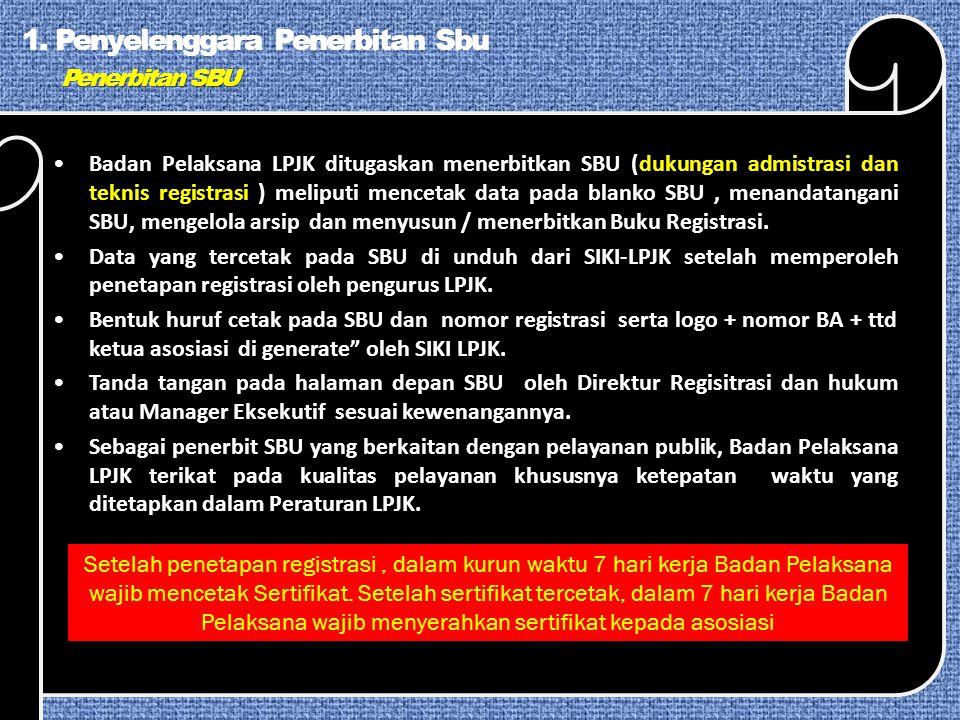 1. Penyelenggara Penerbitan Sbu Penerbitan SBU