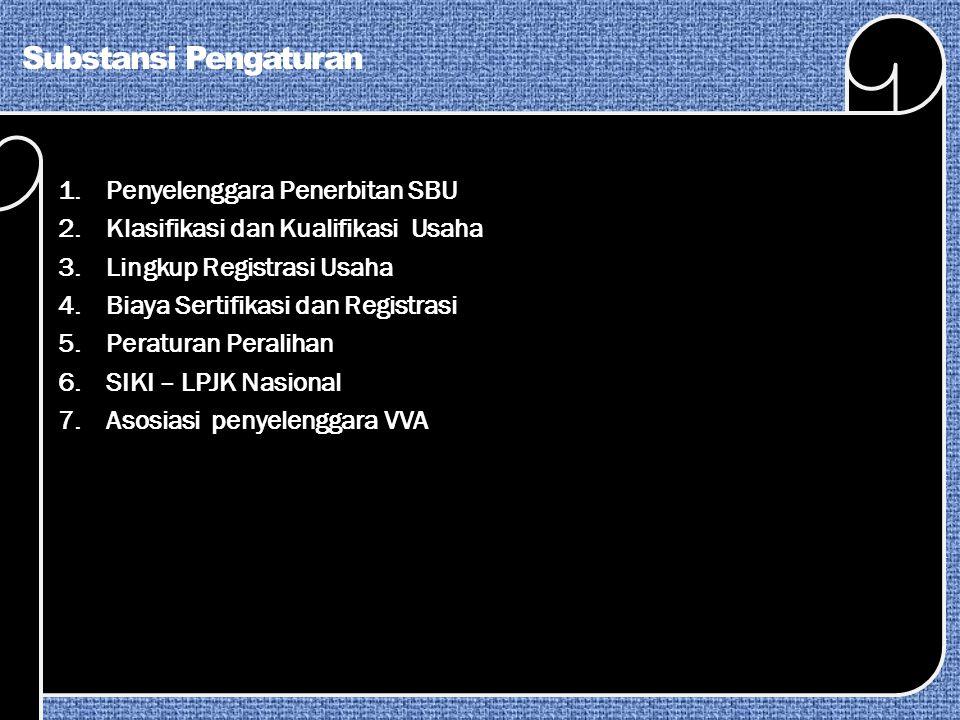 Substansi Pengaturan Penyelenggara Penerbitan SBU