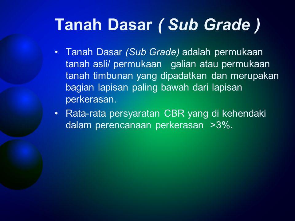 Tanah Dasar ( Sub Grade )