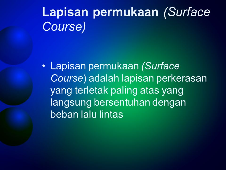Lapisan permukaan (Surface Course)