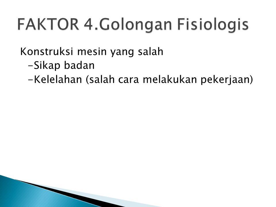 FAKTOR 4.Golongan Fisiologis