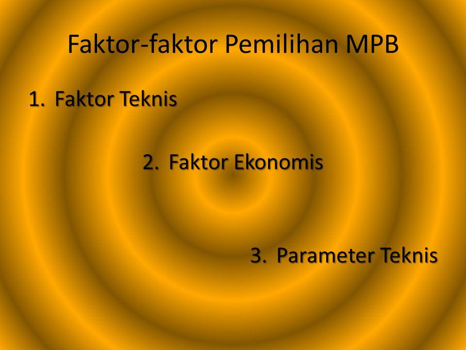 Faktor-faktor Pemilihan MPB