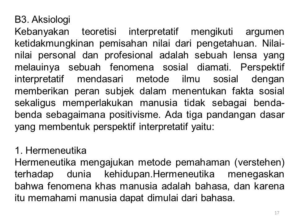 B3. Aksiologi