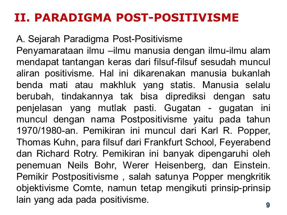 II. PARADIGMA POST-POSITIVISME