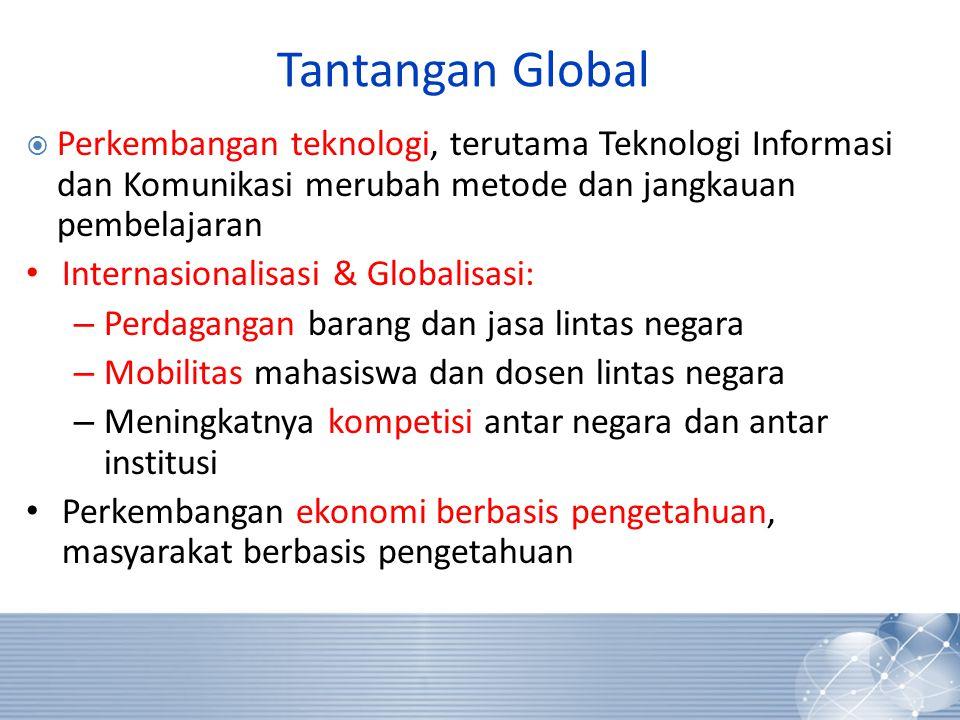 Tantangan Global Perkembangan teknologi, terutama Teknologi Informasi dan Komunikasi merubah metode dan jangkauan pembelajaran.