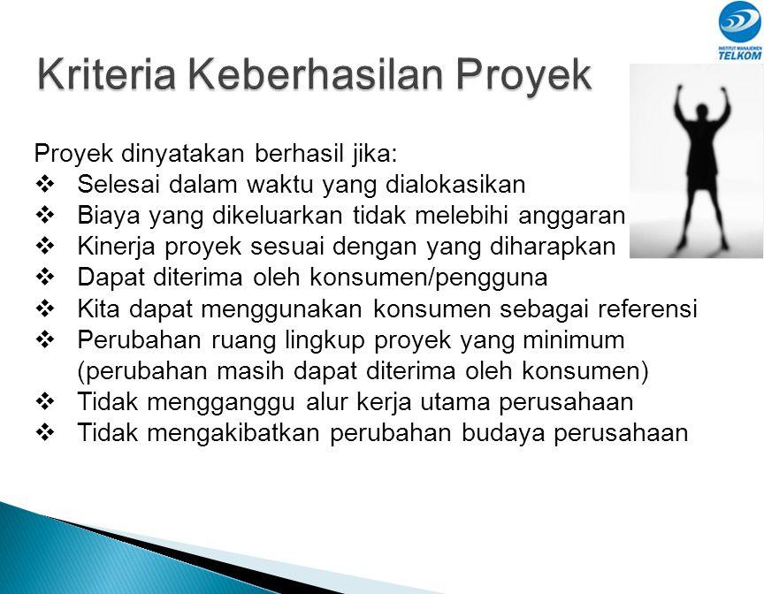 Kriteria Keberhasilan Proyek