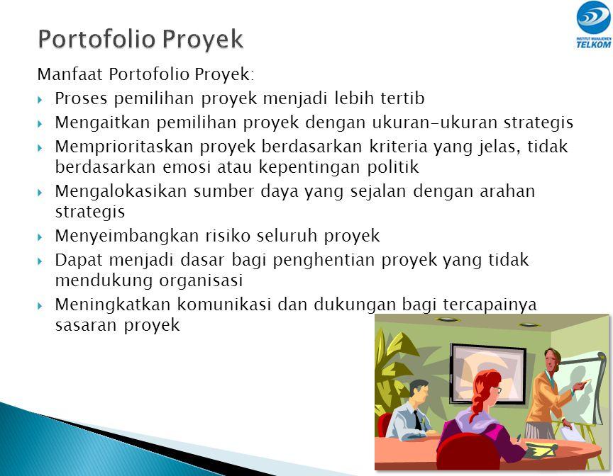 Portofolio Proyek Manfaat Portofolio Proyek: