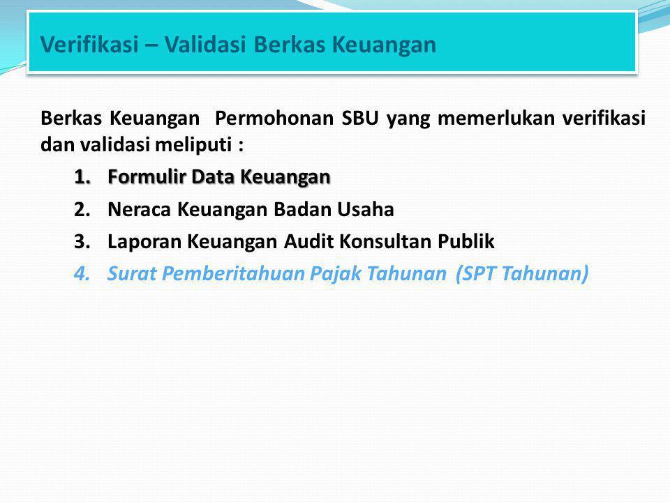 Verifikasi – Validasi Berkas Keuangan