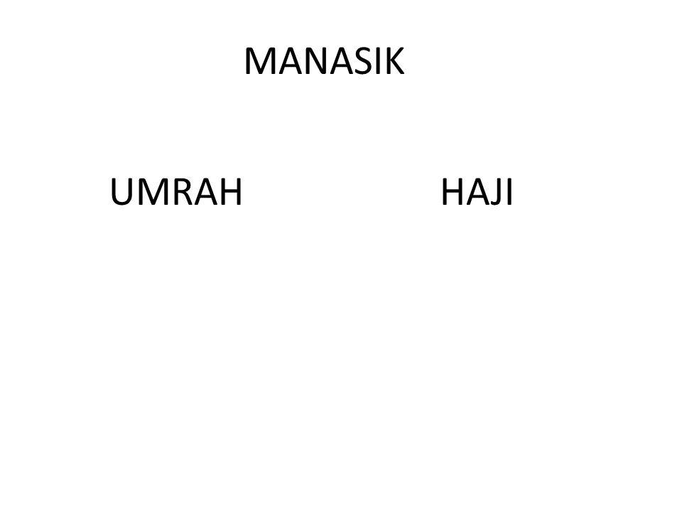MANASIK UMRAH HAJI