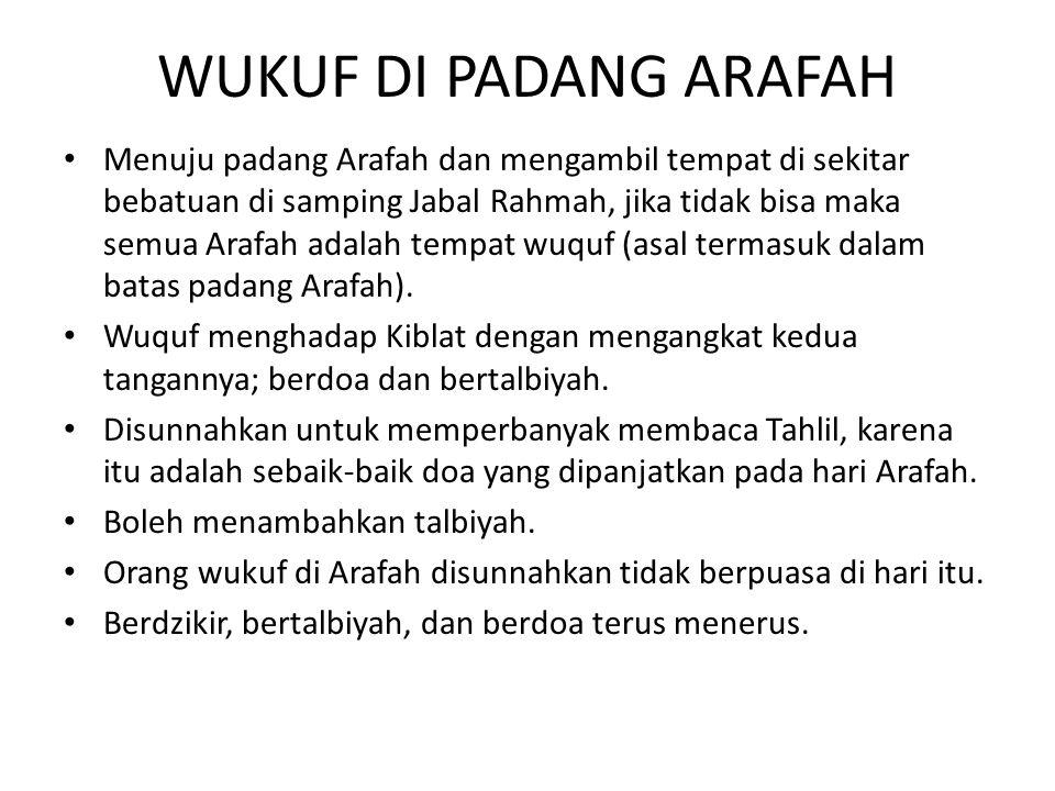 WUKUF DI PADANG ARAFAH