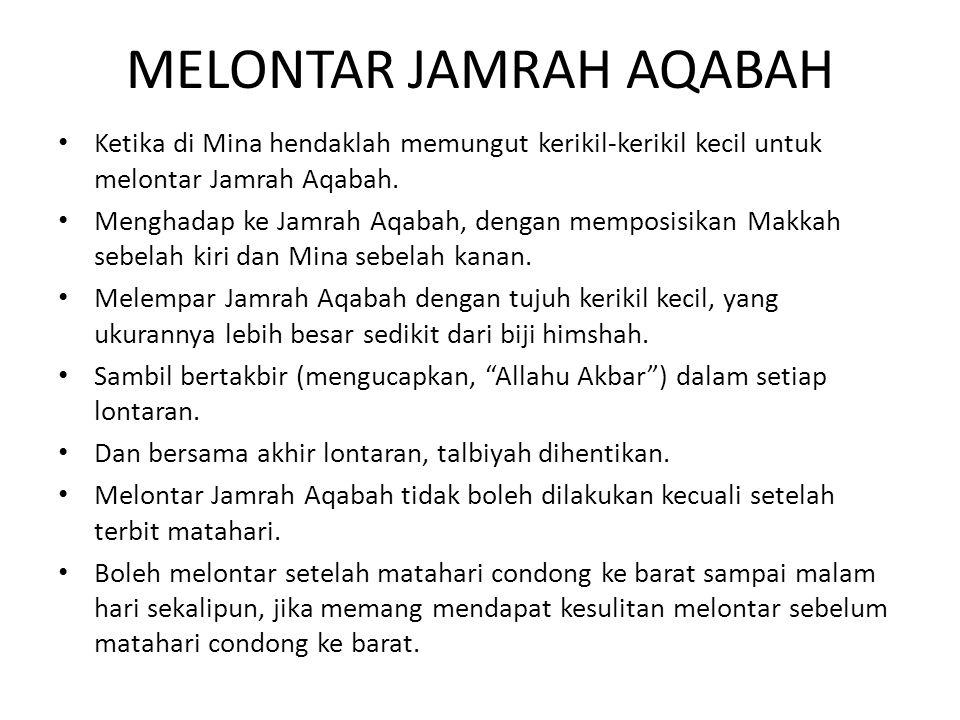 MELONTAR JAMRAH AQABAH