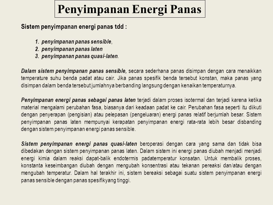 Penyimpanan Energi Panas