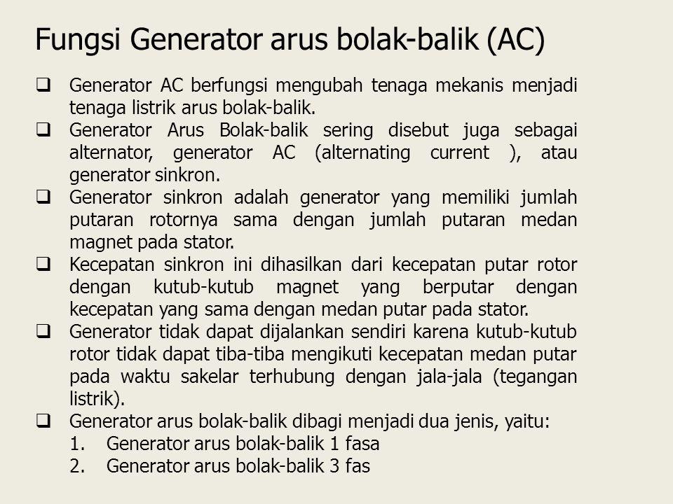 Fungsi Generator arus bolak-balik (AC)