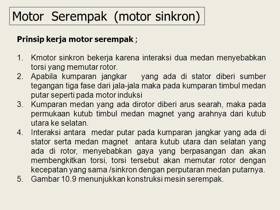 Motor Serempak (motor sinkron)