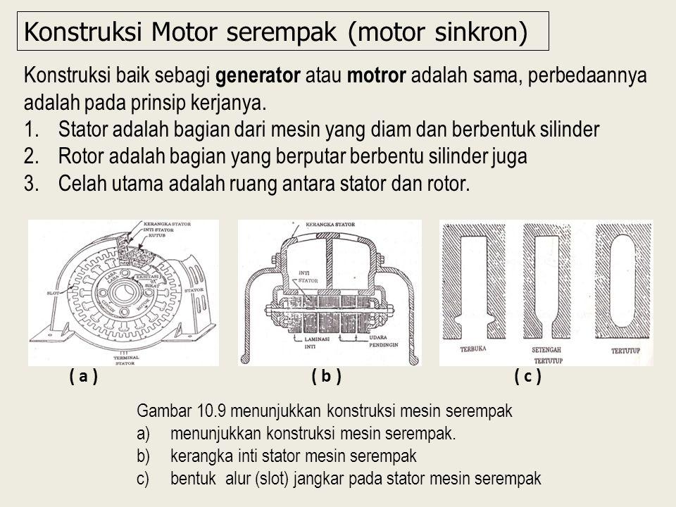Konstruksi Motor serempak (motor sinkron)