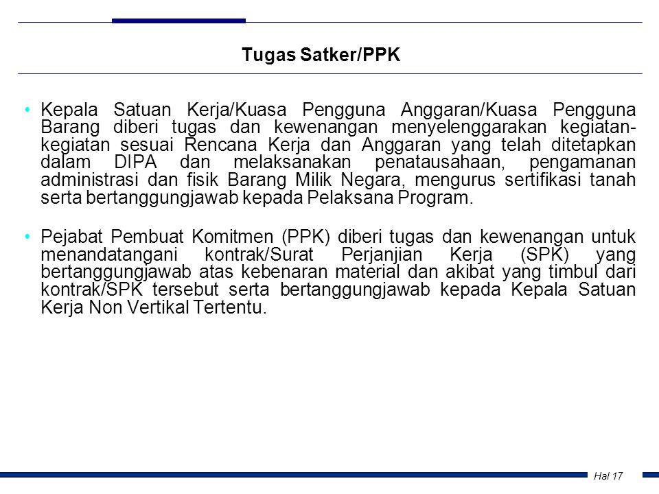 Tugas Satker/PPK