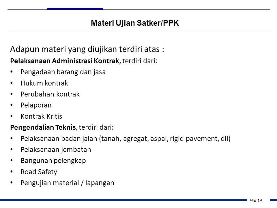 Materi Ujian Satker/PPK