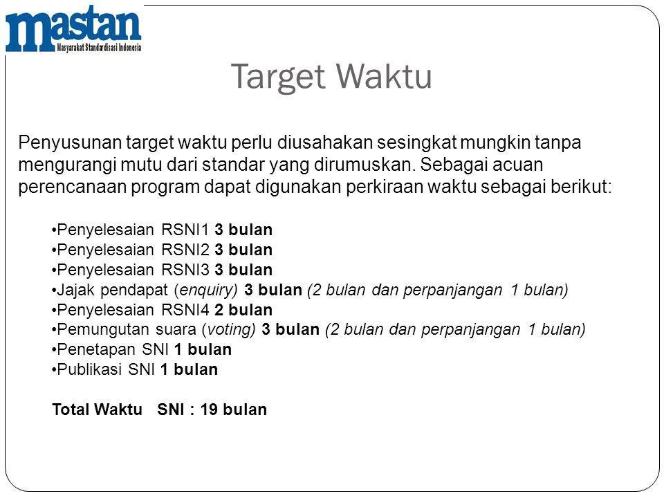 Target Waktu