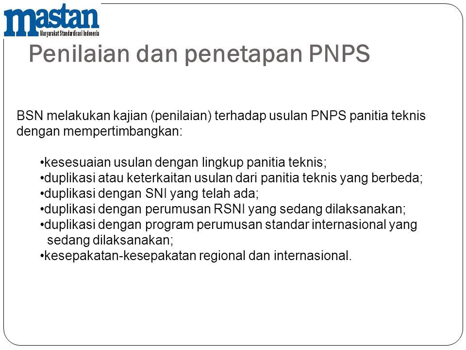 Penilaian dan penetapan PNPS