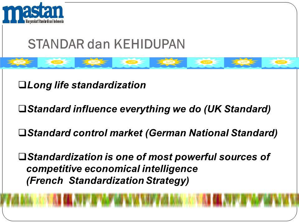 STANDAR dan KEHIDUPAN Long life standardization