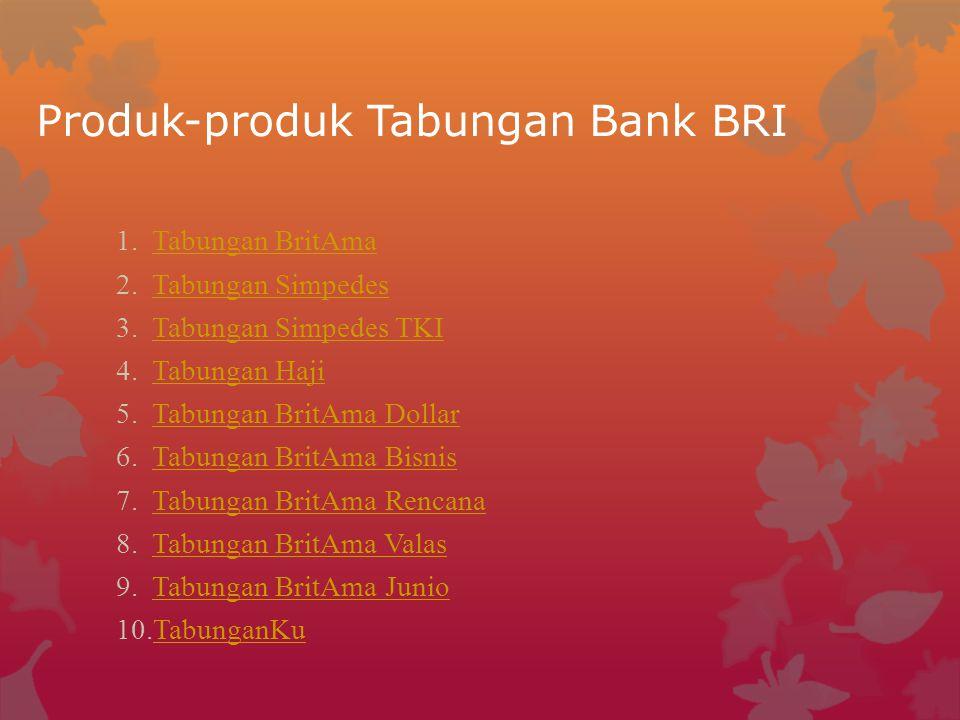 Produk-produk Tabungan Bank BRI