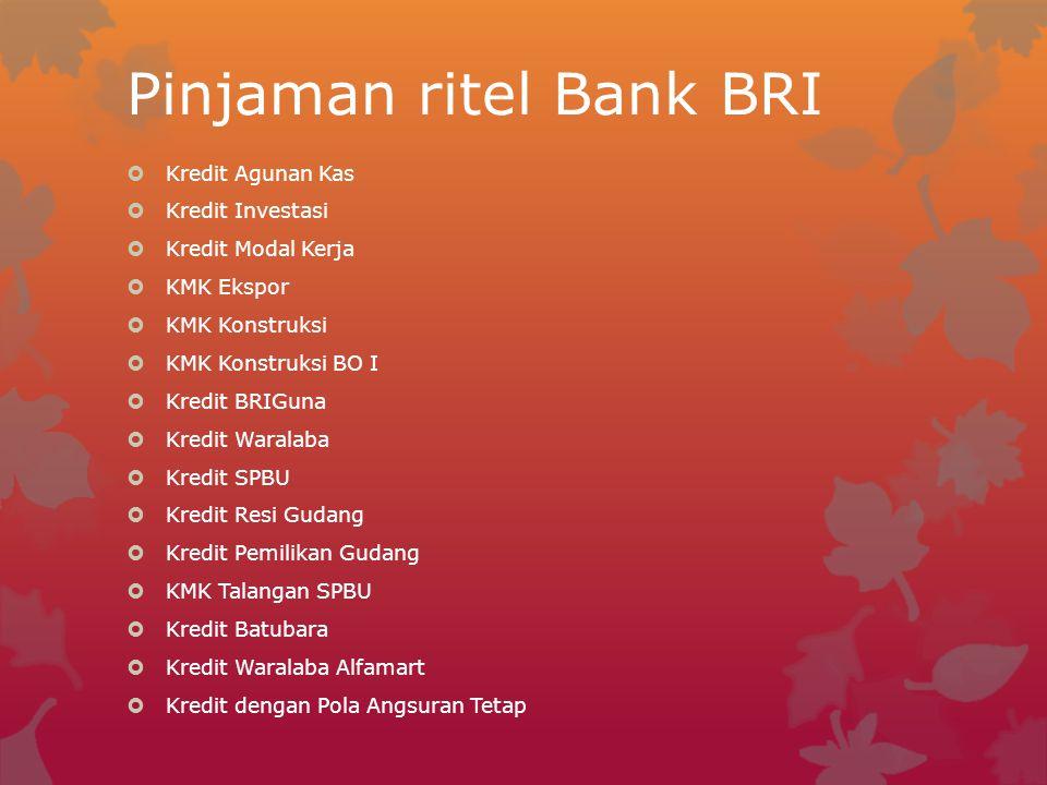 Pinjaman ritel Bank BRI