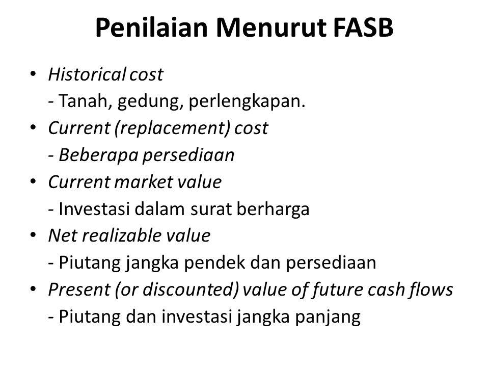 Penilaian Menurut FASB