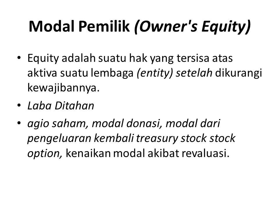 Modal Pemilik (Owner s Equity)