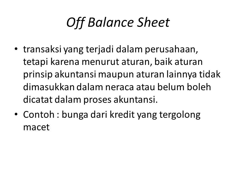 Off Balance Sheet
