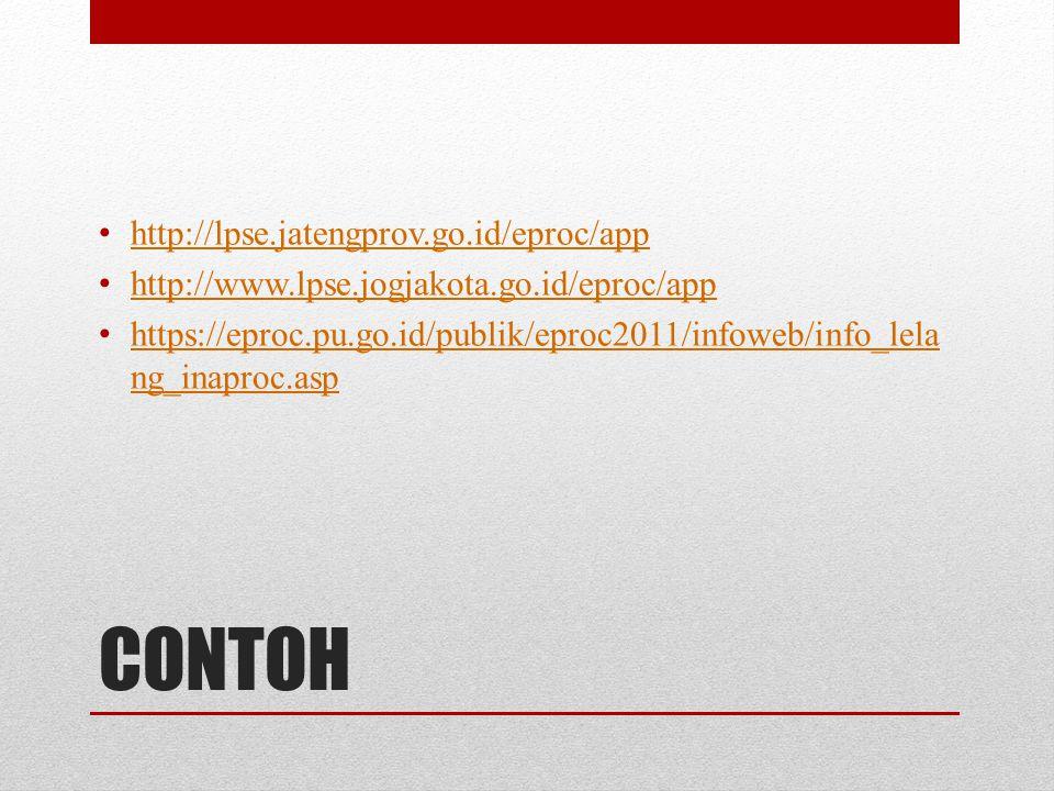 CONTOH http://lpse.jatengprov.go.id/eproc/app