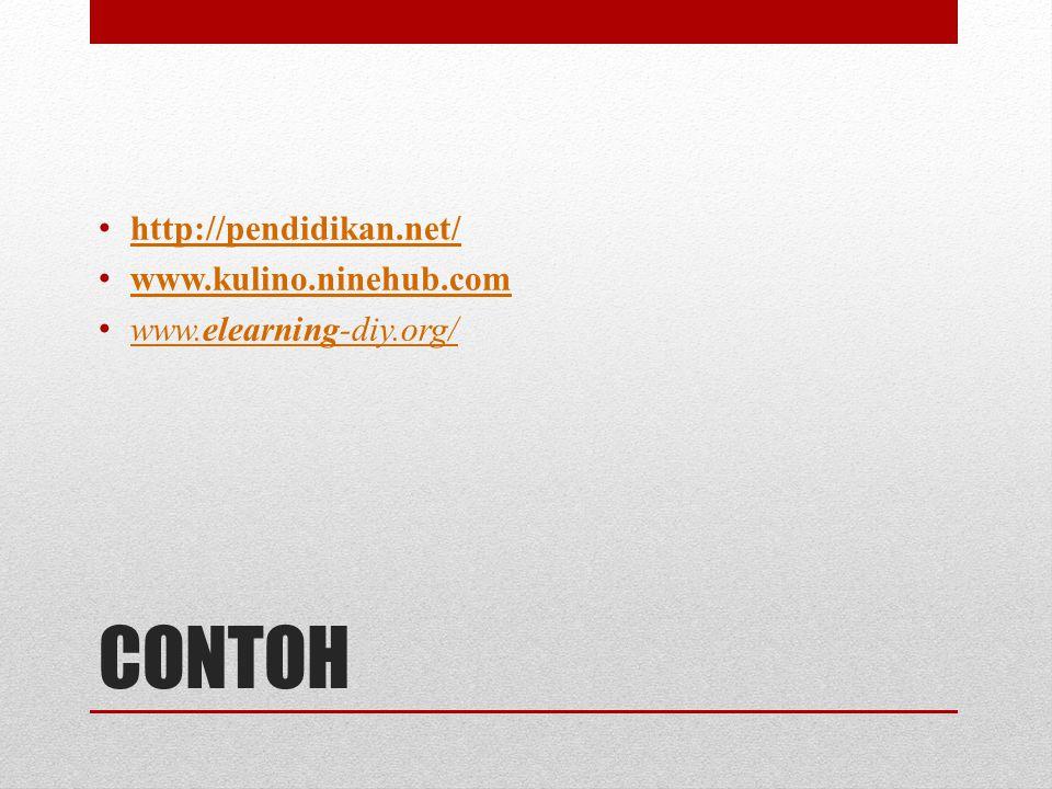 CONTOH http://pendidikan.net/ www.kulino.ninehub.com
