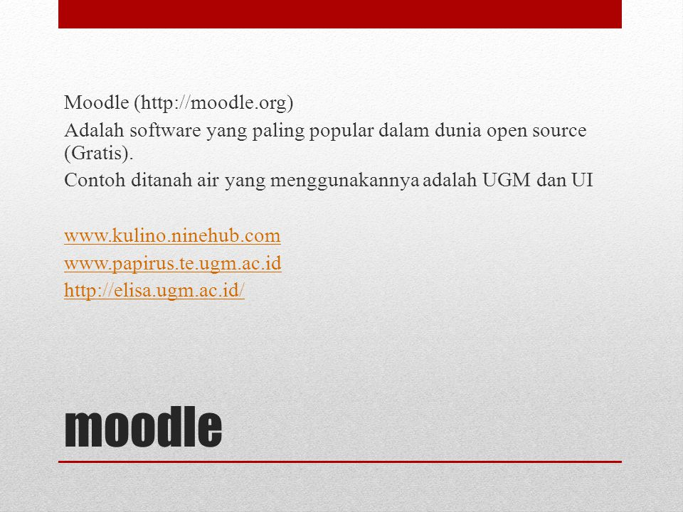moodle Moodle (http://moodle.org)