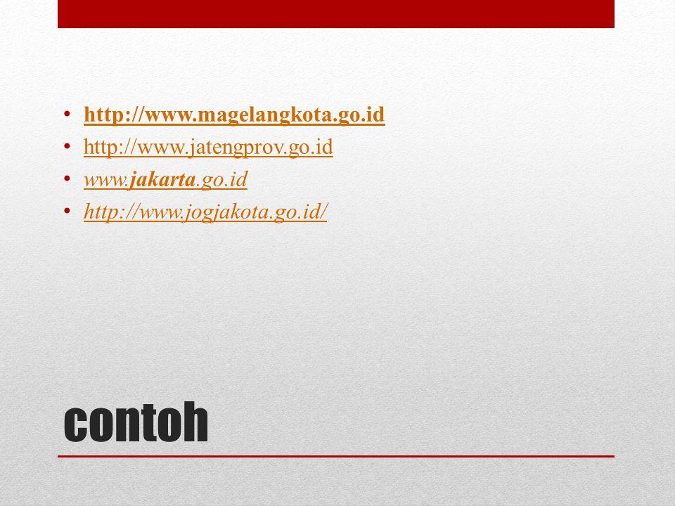 contoh http://www.magelangkota.go.id http://www.jatengprov.go.id