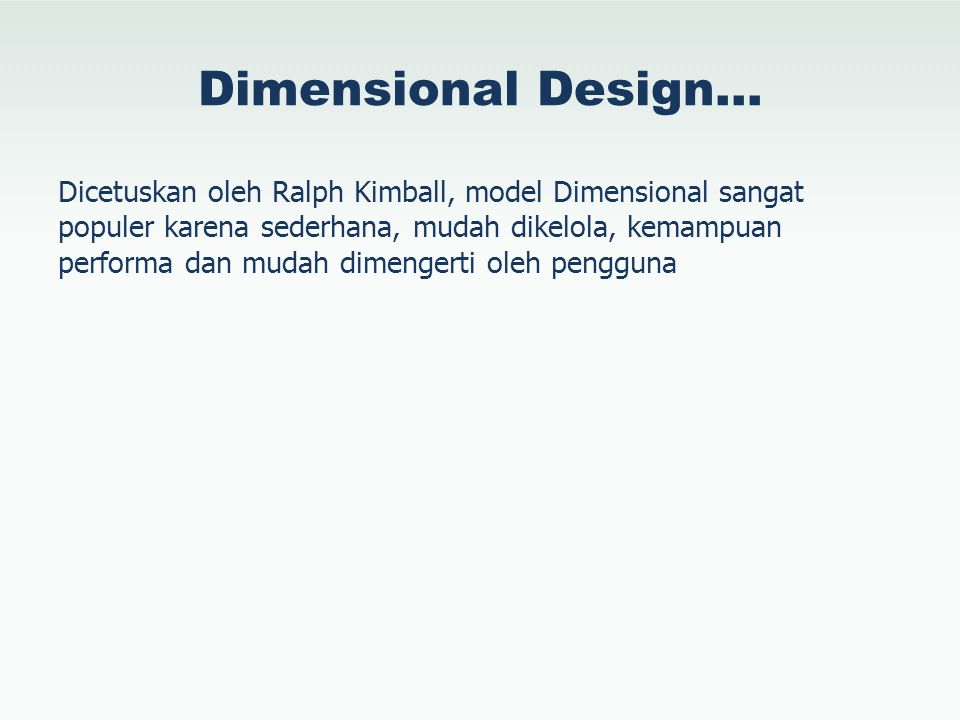 Dimensional Design…