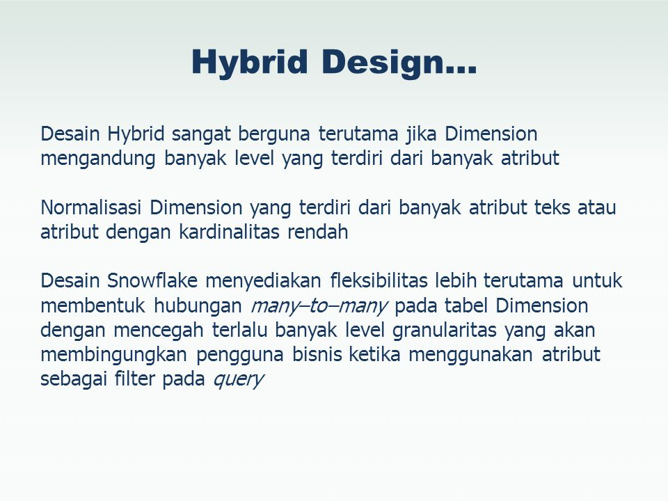 Hybrid Design…