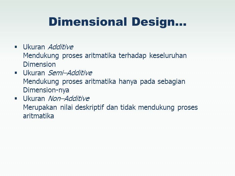 Dimensional Design… Ukuran Additive