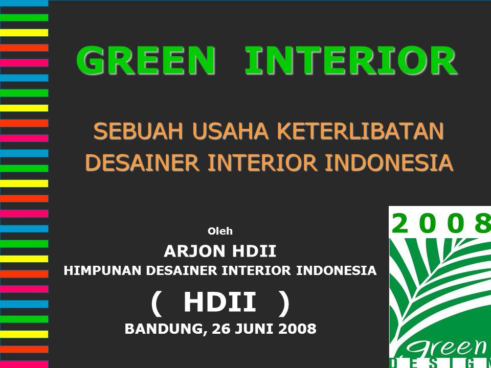 SEBUAH USAHA KETERLIBATAN DESAINER INTERIOR INDONESIA