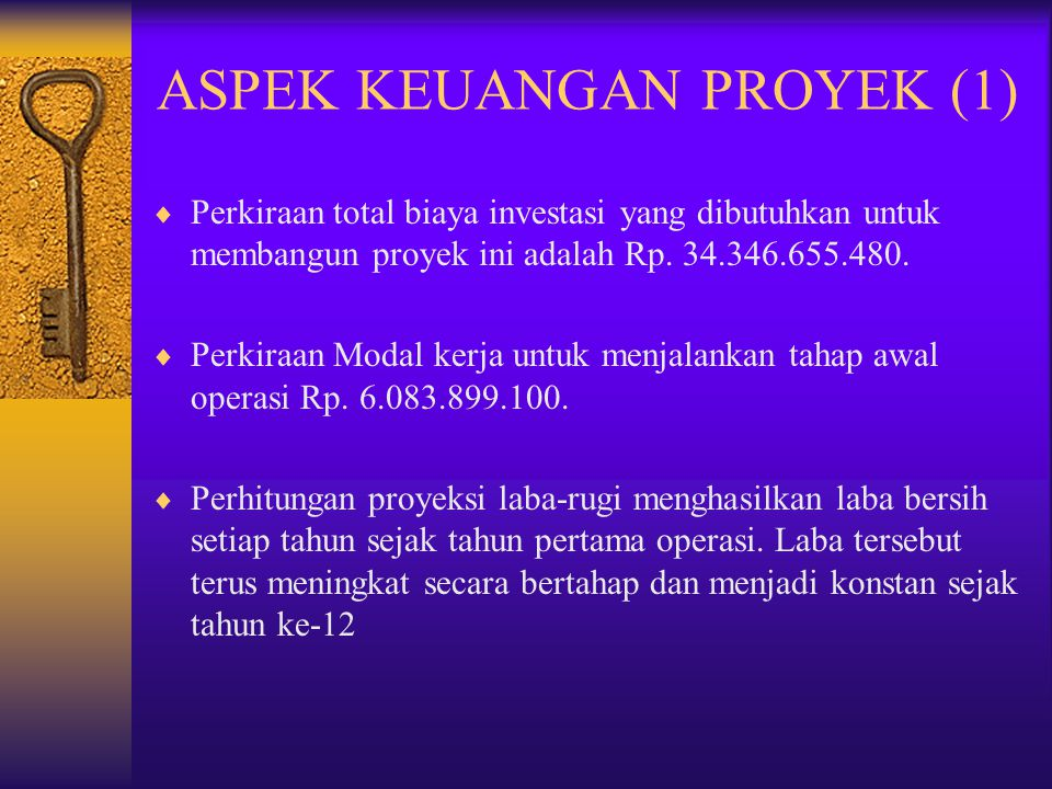 ASPEK KEUANGAN PROYEK (1)
